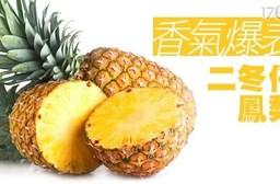 平均每斤最低只要40元起(含運)即可購得香氣爆表二冬仔鳳梨10斤/20斤。