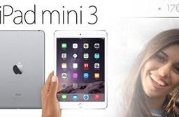 只要12990元(含運)即可購得【蘋果Apple】原價15900元iPad mini3/64G/Wifi 1台,顏色:銀色,購買即加贈保護貼/背蓋1入;享一年保固。