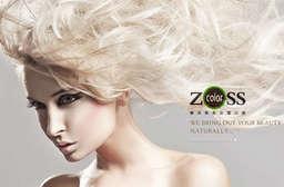 資生堂特約美髮沙龍,超過一萬人次的服務滿意保證!【ZOSS color樂活無氨染護沙龍】依照個人臉型設計,創造時尚的完美髮型! 5家分店 只要599元起,即可享有【ZOSS color樂活無氨染護沙龍】A.護髮專案 / B.染燙專案 / C.L'Oréal Paris萊雅艾麗雅驚豔染髮專案