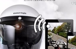 【響尾蛇 HDV-500】機車安全帽簷 行車紀錄器(加贈8G記憶卡+手機鏡頭清潔液) 1入/組