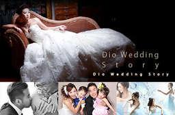 【Dio Wedding Story/迪歐婚紗攝影】展現與眾不同拍攝實力,專業攝影團隊搭配妝髮造型設計,完成個人寫真、兒童寫真、情侶週年照、全家福,還能帶走12吋相框! 士林區 只要1980元起,即可享有【Dio Wedding Story/迪歐婚紗攝影】時尚造型攝影AB方案〈A.8吋12組 / B.(6吋12組/8吋6組),皆享 a.個人/兒童寫真(晚禮服一套+造型服一套+便服自備二套+髮妝造型四款) / b.情侶週年照(晚禮服一套+西服一套+便服男女共二套+髮妝造型男女共四款) / c...
