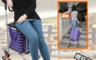 生活市集 3.0折! - 升級加蓋摺疊爬梯購物車