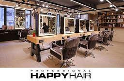 【HAPPYHAIR(伊通店)】造型剪髮,日系時尚染髮、冷燙,量身打造髮型,呈現完美、持久的髮型層次,快來讓設計師解決髮型的困擾~ 中山區 只要499元起,即可享有【HAPPYHAIR(伊通店)】A.時尚造型剪髮 / B.伊聖詩雙效奇肌HAIR SPA / C.日系時尚染髮 / D.日系質感冷燙