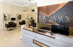 將時尚美髮沙龍打造成品味生活的地方-【R.B Hair Salon】頂級的專業服務,讓顧客擁有亮麗的髮型之外,也能享受專業的服務,在過程中享受身心靈的全然放鬆! 淡水區 只要399元起,即可享有【R.B Hair Salon】A.超優質剪髮專案 / B.義大利努貝亞頭皮頂級護理專案 / C.義大利LANDOLL阿甘系列奢華護髮專案 / D.極致奢華晶鑚染髮專案 / E.頂級冷塑燙髮專案