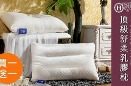 【Hilton 希爾頓】(買一入送一入)五星級渡假村專用頂級舒柔乳膠枕共