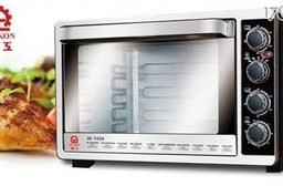 【晶工牌】45L雙溫控不鏽鋼旋風電烤箱 JK-7450
