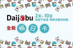 卡樂通國際有限公司 7.3折 日本二天~十天保證不降速無限流量吃到飽暢日卡一張