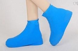 矽膠高筒防雨鞋套(藍色)
