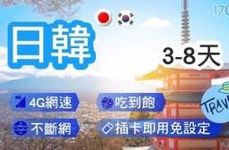日本.韓國-3天(降速吃到飽)