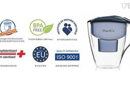 【德國PEARLCO】 UNIMAX濾水壺(一壺一芯)+BRITA濾芯一顆+PERSIL洗碗精(顏色隨機一瓶)+3M木漿海綿